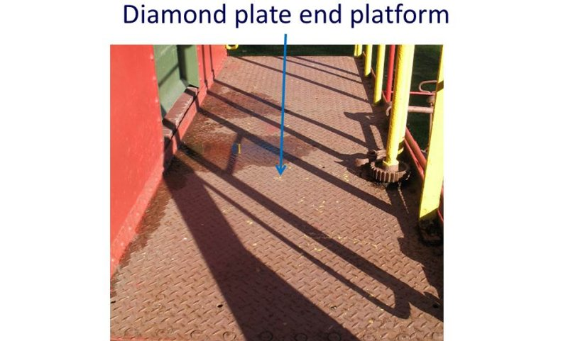 diamond plate end platform
