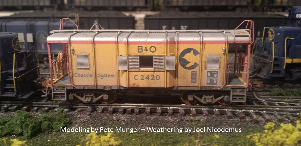 Chessie C-18 wagontop caboose - Modeling by Pete Munger - Weathering by Joel Nicodemus