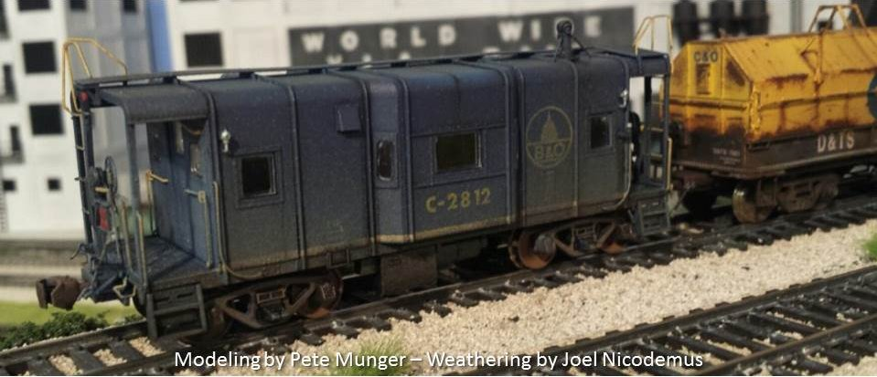 B&O I-12 wagontop caboose - Modeling by Pete Munger - Weathering by Joel Nicodemus